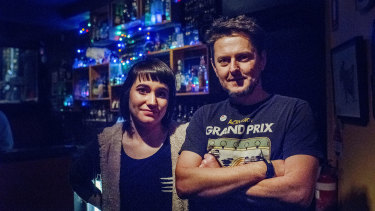 Jason Newton and Gabi Purnell, owners of the Spooning Goats pub, SG, on York Street.