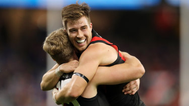 Zach Merrett and Jake Stringer have been pivotal for the Bombers this season.