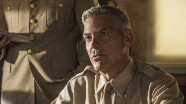 George Clooney in a scene from the new adaptation of Catch-22.