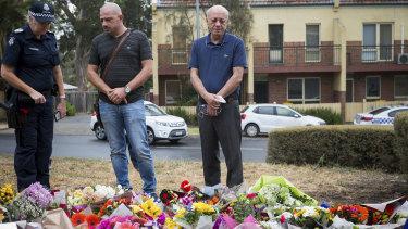 Saeed Maasarwe at the scene of his daughter Aiia's death.