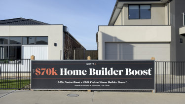 Developers have been advertising the HomeBuilder boost amid a surge in demand.