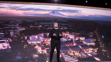Bjarke Ingels shows a glimpse of the new city near Mt Fuji.