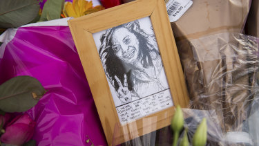 Heartfelt messages, pictures and flowers have been left at the spot Aiia Maasarwe's body was found on Wednesday.