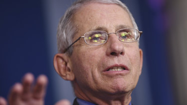 Dr Anthony Fauci has rejected notion that the virus was human-made.