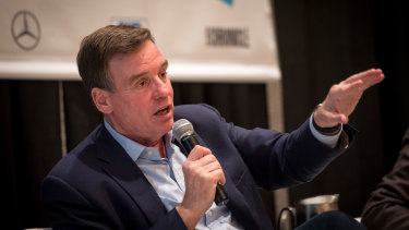 Democratic Senator Mark Warner says social media giants such as Facebook have abused their market power.