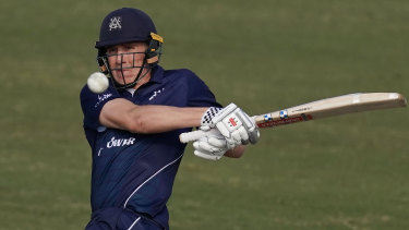 Will Sutherland will make his red-ball debut for Victoria on Tuesday.