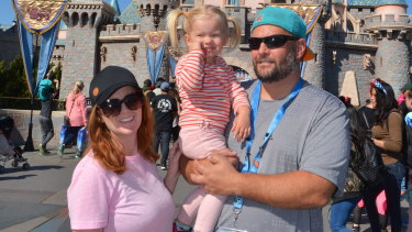 Peter Tos, with his family at Disneyland, said he had come to terms with the isolation that being at home brings.