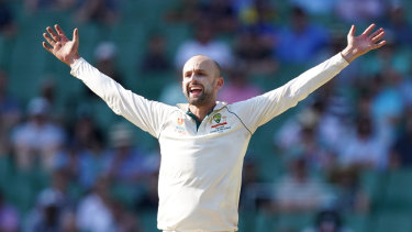 Nathan Lyon appeals on his way to four wickets as Australia wrapped up the second Test on Sunday.