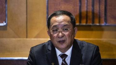 Whereabouts unknown: Ri Yong-Ho, North Korea's former foreign minister.