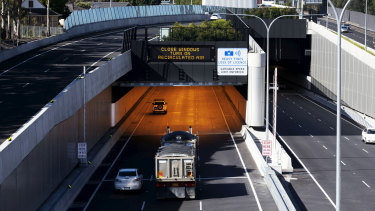Traffic on the new M4 East has been light on the first weekday since it opened.