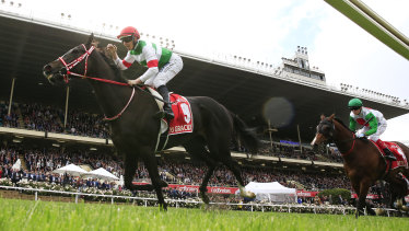 Fast Lane: the 2019 Cox Plate was won by Japanese-trained mare Lys Gracieux, ridden by jockey Damian Lane.