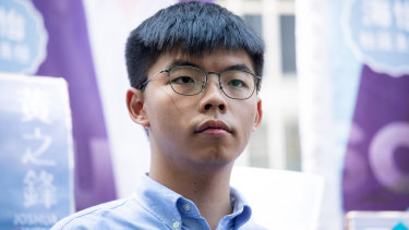 Hong Kong activist Joshua Wong has been banned from running in Hong Kong's local government elections next month.
