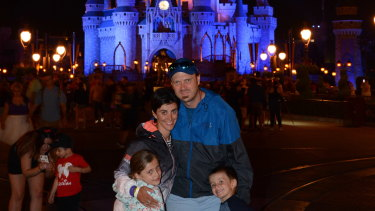 Lisa Briggs and family at Disney World in Florida in 2017.