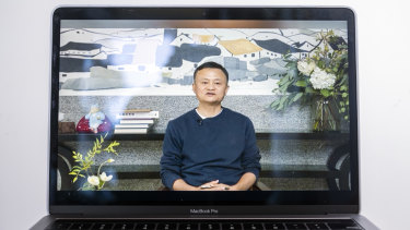 A video recording of a livestream of Jack Ma addressing teachers at an annual event he hosts.