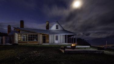 Architect John Wardle's restored holiday home, Captain Kelly's Cottage on Bruny Island.