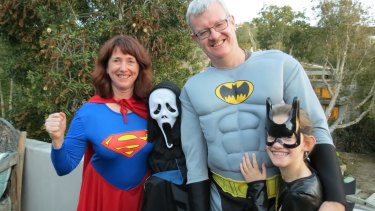 Frank Leggett and his family enjoying Halloween in Los Angeles.