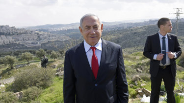 Israeli Prime Minister Benjamin Netanyahu announces the construction of new Israeli neighbourhood near the West Bank settlement of Har Homa to last year.