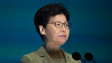 Beijing-backed leader Carrie Lam has faced a backlash over the Hong Kong extradition laws.