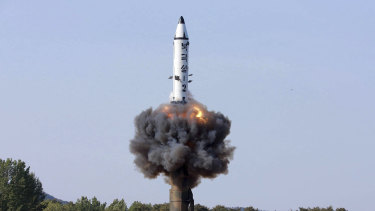 Missile capability is shaping the security environment of Asia. A North Korean missile test.