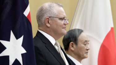 Prime Minister Scott Morrison in Japan this week to meet counterpart Yoshihide Suga.