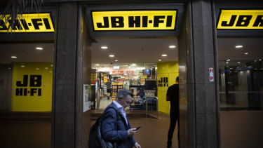 JB Hi-Fi  expects sales growth to remain elevated as long as consumers are prevented from travelling overseas.