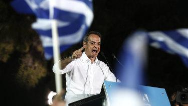 Greece's new conservative Prime Minister, Kyriakos Mitsotakis.