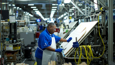 Inside the Boeing plant in North Charleston.