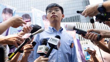 Hong Kong protest leader Joshua Wong.