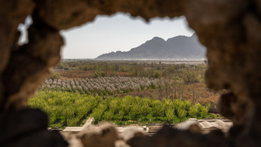 The view from a police and army outpost in Afghanistan's Kandahar province.
