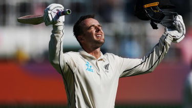Centurion: New Zealand's Tom Blundell notched 100 runs on day four at the MCG.
