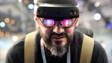 The technology is based on Microsoft's HoloLens headsets, which were originally intended for the video game and entertainment industries.