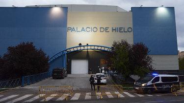 The Palacio de Hielo ice rink is being used as a morgue.