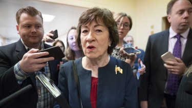 Moderate Republican senator Susan Collins.