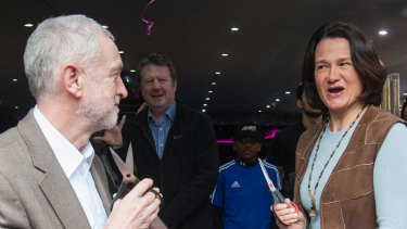 Labour MP Catherine West with the party leader Jeremy Corbyn in 2016.