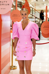 Myer ambassador Elyse Knowles in Torannce, one of the labels showing this week at New York Fashion Week.