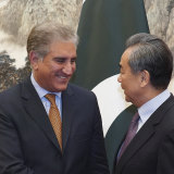 Pakistani Foreign Minister Shah Mahmood Qureshi, left, and Chinese Foreign Minister Wang Yi in Beijing in 2019.