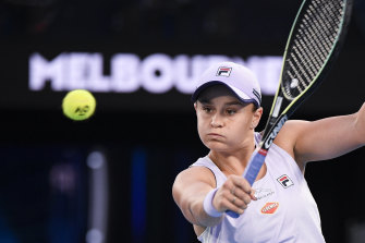 Ash Barty is close to a fourth-round win over Shelby Rogers.
