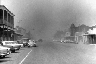 Dust storm in Warracknabeal during the drought.