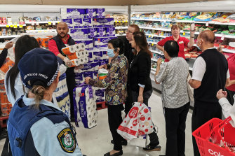 The toilet roll situation was so inflammatory in Australia it required police supervision.