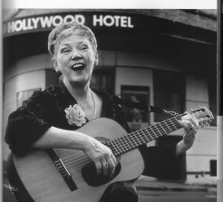 The late Doris Goddard outside the Hollywood Hotel.