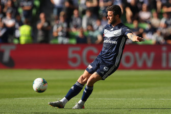 Tim Hoogland lined up for his first full match for Melbourne Victory against Melbourne City in round 11.