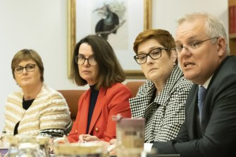 Prime Minister Scott Morrison and Minister for Women Marise Payne led the first meeting of cabinet's new women's taskforce.