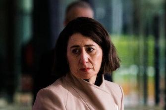 NSW Premier Gladys Berejiklian on Wednesday in Sydney.