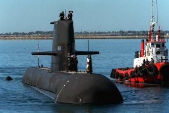 Collins class submarine HMAS Waller.