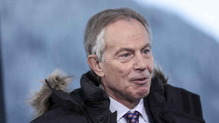 UK's former prime minister Tony Blair was another attendee.