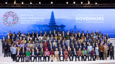 Finance chiefs and leaders from around the world convened for the IMF meeting in Bali.