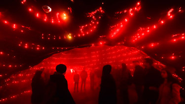 Songcloud was one of the installations at White Night