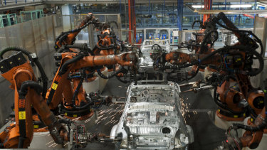 BMW's car plant in Regensburg, Germany. Germany's manufacturing sector, already shrinking, would be hit hard if the US imposed tariffs on its auto exports.