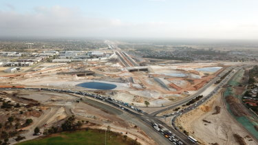 Omega was sub-contracted to building bridges on the state government's Northlink WA project.