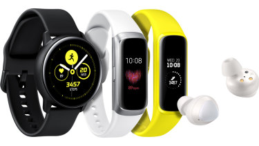 Samsung has unveiled three new watches and a pair of wireless earbuds.